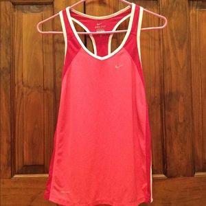 Nike Pink Dri-Fit running tank top
